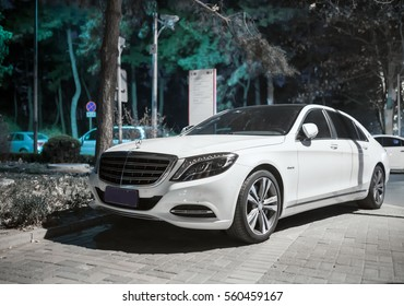 Beijing - Jan 20, 2017: Mercedes-Maybach S-Class (W222). Mercedes brought back the Maybach as a sub-brand in 2015, representing advanced luxury.