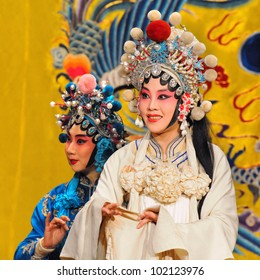 "BEIJING - MAY 7: Actors of the Beijing Opera Troupe perform the famous story ""White Snake"" at the Huguang Theatre on May 7, 2012, in Beijing, China."
