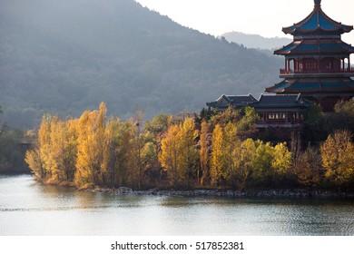 Beijing Ming Tombs Reservoir Autumn Landscape