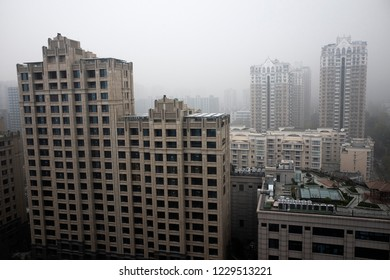 BEIJING - NOV 14: severe air pollution in Beijing city center on November 14, 2018 in Beijing, China. Beijing has an alarming level of air pollution, one of the highest in the world.