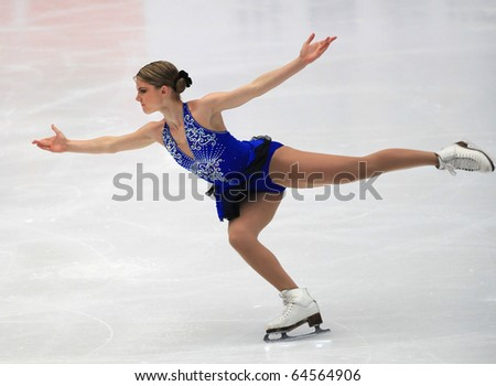BEIJING - NOV 6 : Amanda Dobbs of USA performs in the Ladies-Free Skating event of the SAMSUNG Cup of China ISU Grand Prix of Figure Skating 2010 on Nov 6, 2010 in Beijing, China.