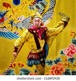 "BEIJING - NOVEMBER 16: Actor of the Beijing Opera Troupe performs the famous story ""Journey to the West"" at the Huguang Theater on November 16, 2010, in Beijing, China."