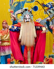 "BEIJING - NOVEMBER 16: Actors of the Beijing Opera Troupe perform the famous story ""Journey to the West"" at the Huguang Theatre on November 16, 2010, in Beijing, China."