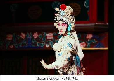 "BEIJING - NOVEMBER 16: Actress of the Beijing Opera Troupe performs the famous story ""Journey to the West"" at the Huguang Theatre on November 16, 2010, in Beijing, China."