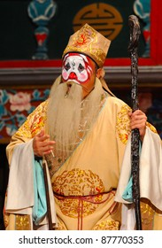"BEIJING - NOVEMBER 16: Unidentified actor of the Beijing Opera Troupe performs the famous story ""Journey to the West"" at the Huguang Theater on November 16, 2010, in Beijing, China."