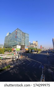 BEIJING - OCTOBER 6: The city scenery in the zhongguancun, on october 6, 2012, beijing, china.