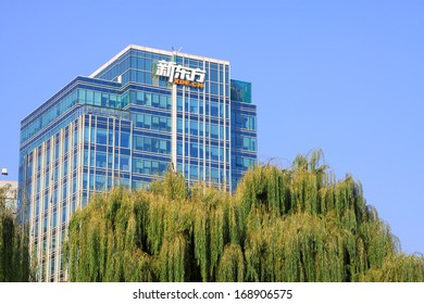 BEIJING - OCTOBER 6: The New Oriental building in the ZhongGuanCun street, on october 6, 2012, beijing, china.