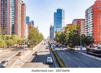 Beijing skyline at the central business district.