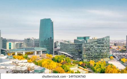 Beijing Zhongguancun urban architectural complex scenery