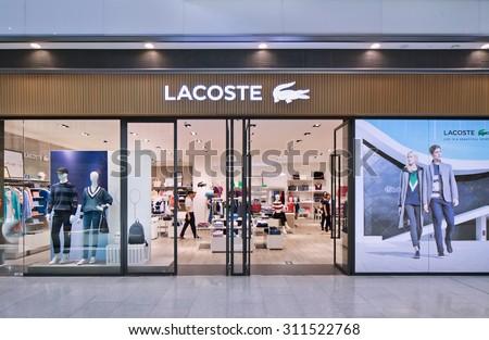 acf9ea34c5f404 BEIJINGAUG 21 2015 Lacoste Outlet Lacoste Stock Photo (Edit Now ...