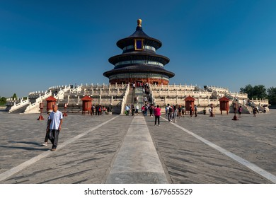 Beijing/China - 09-02-2019: Midday photo taken at the Temple of Heaven, Beijing.