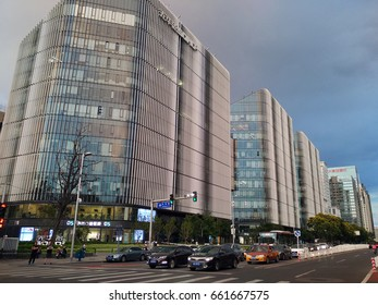 Beijing,China - June 8,2017 : Beijing CBD building scenery at Jianwai SOHO,located in Chaoyang District