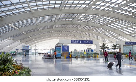 Beijing-China-October 2, scene of T3 airport building in beijing in china ,on October 2, 2015 Beijing, China