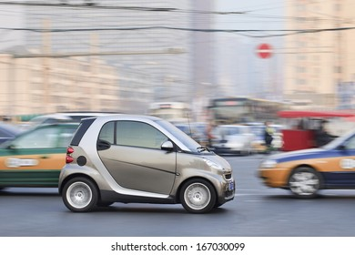 BEIJING-DEC. 6. Smart Car on the road. Smart Car sales in China grew 45% in 2012 to 15,680 vehicles. But given the size of China's car market, it is still a niche player. Beijing, Dec. 6, 2013.