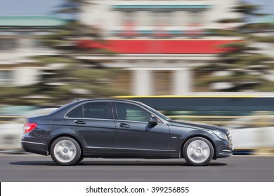 BEIJING-MARCH 30, 2016. Mercedes-Benz C-Class. Luxury-car makers can count on China's growing wealth. Number of Chinese with over $1 million in financial assets double North America's rate this year.