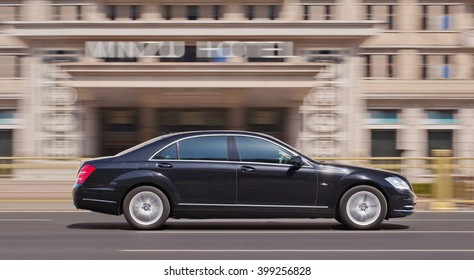 BEIJING-MARCH 30, 2016. Mercedes-Benz S Class. Luxury-car makers can count on China's growing wealth. Number of Chinese with over $1 million in financial assets double North America's rate this year.