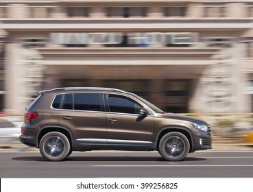 BEIJING-MARCH 30, 2016. Volkswagen Tiguan SUV. China is the place where VW CEO Matthias Mueller can enjoy a brief respite from its emissions scandal: The country is the automaker's biggest market.