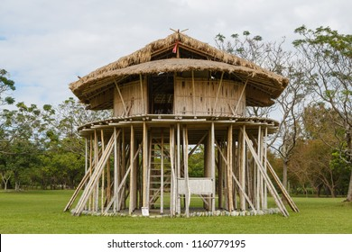 Beinan Township, Taitung, Taiwan - January 1 2016: The traditional stilt house of the Beinan people, one of the 16 aboriginal tribes of Taiwan.