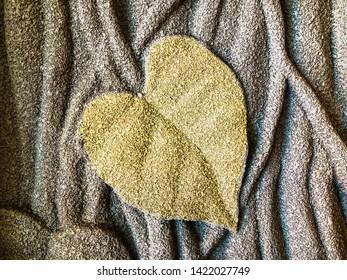 Being Sandstone Leaf of Pipal or Bodhi leaf