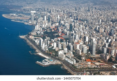 Beirut - Aerial view of the Lebanese Capital City