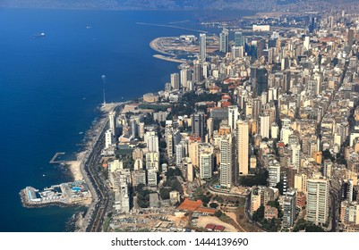 Beirut, Aerial view of the Lebanese Captial