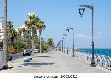 Beirut, Lebanon - 07.06.2021: Corniche Ain al Mraiseh in Beirut