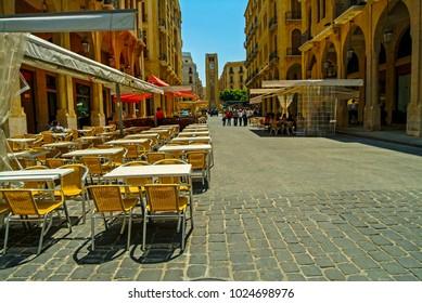 Beirut, Lebanon - 4.29.05 Place d'Etoile restaurants