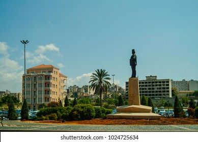 Beirut, Lebanon - 4.29.05 Statue of Riad al Solh in square named after him.