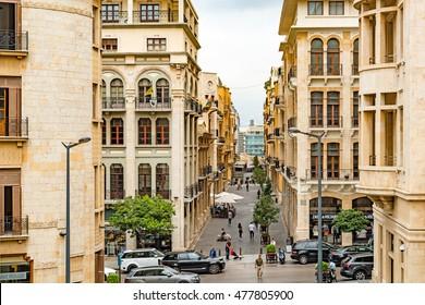 Beirut, Lebanon - August 15, 2016: Beirut City at Beirut Souks in Beirut, Lebanon.