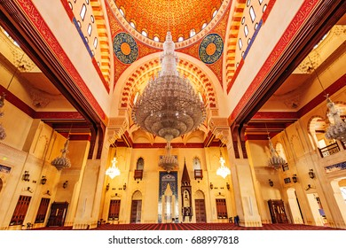 BEIRUT, LEBANON - August 15: Mohammad Al Amin Mosque in Beirut, Lebanon on August 15, 2016.