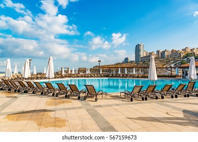 BEIRUT, LEBANON - August 16: Resort Hotel at Raouche in Beirut, Lebanon on August 16, 2016.