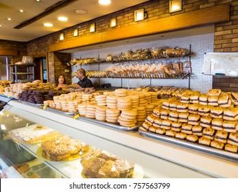 BEIRUT, LEBANON - NOVEMBER 1, 2017 - Traditional Lebanese sweets.