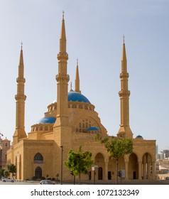 Beirut, Lebanon - Oct 2, 2010: Mohammad Al-Amin Mosque in Beirut, Lebanon.
