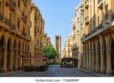Beirut Lebanon streets downtown Beirut