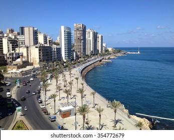 Beirut sea side walk