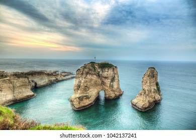 Beirut/Lebanon - February 2018: Rauche Rock