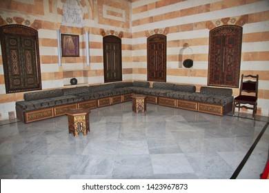 Beit ed-Dine, Lebanon - 06 Jan 2018. Beit ed-Dine palace in mountains of Lebanon