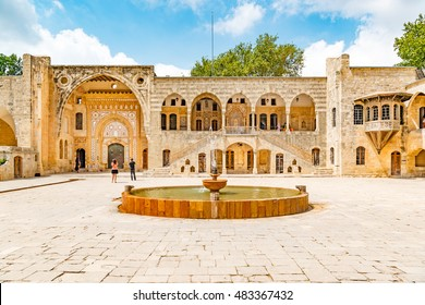 BEIT ED-DINE, LEBANON - August 17: Beit ed-Dine Palace in Beit ed-Dine, Lebanon on August 17, 2016. It is located about 45 km southeast of Beirut.