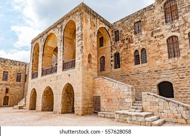Beit ed-Dine Palace in Beit ed-Dine, Lebanon. It is located about 45 km southeast of Beirut.