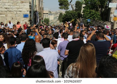 Beit Jala / Palestine - 04 30 2016: Easter celebrations in the Palestinian Territories' West Bank.