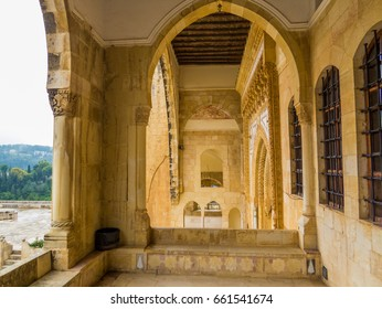 BEITEDDINE, LEBANON - MAY 20, 2017 - View of the inner courtyard of the Beiteddine Palace.