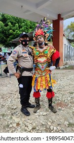 Bejiharjo, Karangmojo, Gunungkidul, Yogyakarta, Indonesia, 11 June 2021: atmosphere of preparation for the Reog art performance in Bejiharjo village