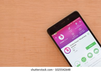 BEKASI, WEST JAVA, INDONESIA. FEBRUARY 16, 2018 : Firefox Focus: The privacy browser dev application on Smartphone screen. Firefox Focus is a freeware web browser developed by Mozilla