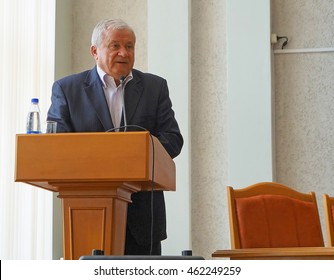 Belarus, Bobruisk district, September 10: Performs one of the participants regional congregation of deputies, September 10, 2015 in Bobruisk district, Belarus.