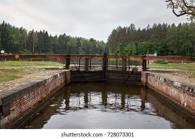 Belarus. Grodno. Gateway on the Augustow canal in Belarus. May 24, 2017