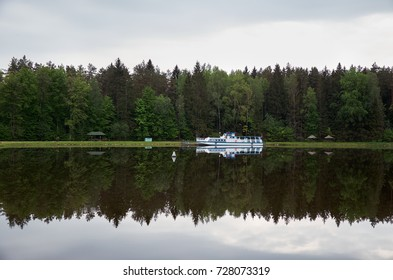 Belarus. Grodno. The ship is on the Augustow canal in Belarus. May 24, 2017