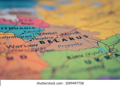 Belarus map background