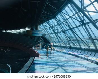 Belarus, Minsk,August 2019. Interior design architecture water park