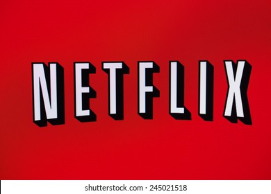 BELCHATOW, POLAND - January 06, 2015: Photo of the Netflix logo on a monitor screen.