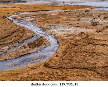 Belching mudflap at Hverir geothermal area in Northern Iceland